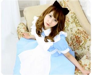 Alice'sドレス 色:水色衣装    制服 コスチューム コスプレ衣装