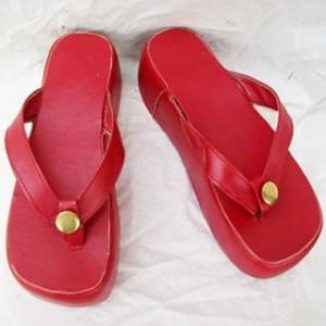 戦国無双 出雲阿国(いずものおくに) 厚底 合皮 ゴム底 コスプレサンダル コスプレ靴