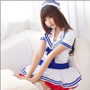 セクシー学生制服 ふんわりスカート セーラー服 制服魅惑 コスプレ衣装 OL制服 コスチューム