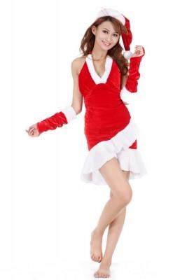 クリスマスサンタ衣装  パーティードレス エレガントコスチューム