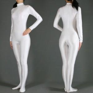 純色 女性 スパンデックスキャットスーツ