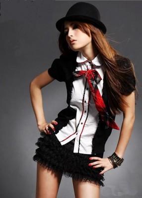 キラキラ スクール制服 コスプレ衣装 コスチューム セクシーユニホーム制服