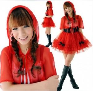 セクシーファッション可愛い赤ずきん  LOLITAプリンセス装 クリスマス パーティー 制服