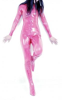 ピンクのスパンデックス女性全身タイツスーツ