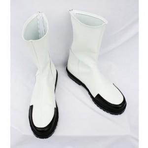 コスプレ通用ブーツ ホワイト ショートブーツ合皮 ゴム底 低ヒール コスプレブーツ