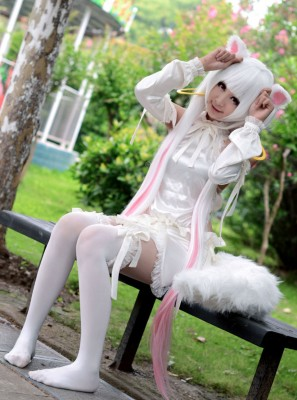魔法少女まどか☆マギカ  キュゥべえQB 擬人 コスプレ衣装 魔法少女おりこ☆マギカ