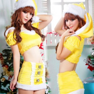 クリスマス衣装 いたずら水精霊 ファッションサンタコスチューム