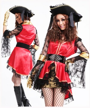 ハロウィーン 衣装 女海賊キャプテン クリスマス コスプレ コスチューム