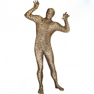 ヒョウ柄のフルボディユニセックススパンデックスキャットスーツ 全身タイツ