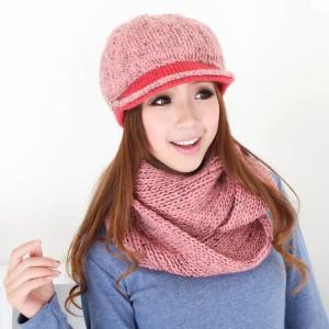 新品上品帽子 毛糸帽子マフラー2セット レディース