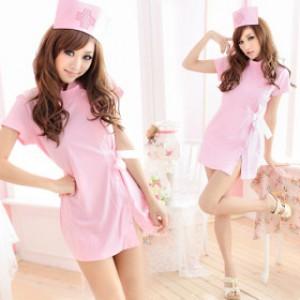 清純風 ポリエステル ナース服 3点セット衣装