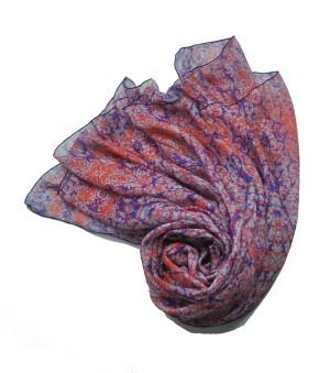 岩石木目 蚕糸 シルクスカーフ ストール