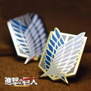 進撃の巨人 調査兵団 自由の翼 徽章/バッジ コスプレ道具 アニメ