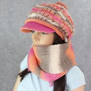 カシミヤ帽子+マフラー 女 冬 レディース秋冬毛糸帽子マフラー韓派
