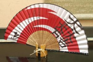 戦国BASARA 戦国武将家紋 石田三成 風 シルク扇子 コスプレ道具