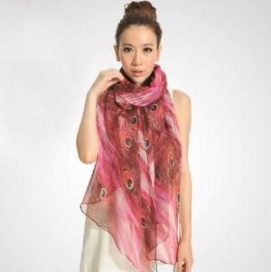 クジャク ファッション ストール レディース スカーフ