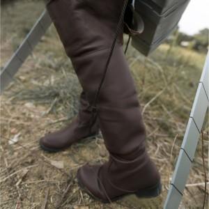 進撃の巨人風 コスプレ靴ブーツ