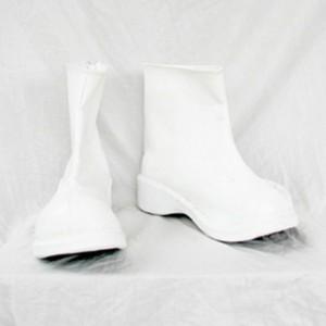 ホワイト ショート 厚底 合皮 ゴム底 コスプレブーツ