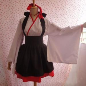 コスプレ新作 和風メイド服 巫女服装 コスプレ コスチューム 和風 ロリータ 和 ロリ