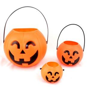 ハロウィン 装飾 飾り イベント パーティー道具 手さげかぼちゃ缶