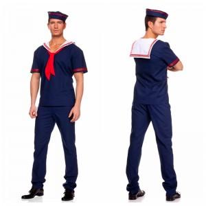 ハロウィーン 衣装 男性 白 海軍セーラー 軍服水兵服 ハロウイン コスチューム 水兵コスプレ