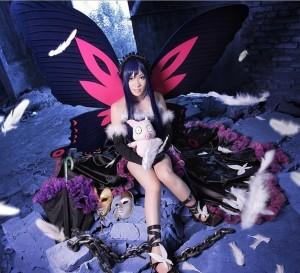 アクセル・ワールド 黒雪姫 蝶々ドレス コスプレ衣装