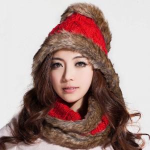 マフラー帽子2セット ボアマフラー女冬厚手韓派 ニットマフラー女秋冬
