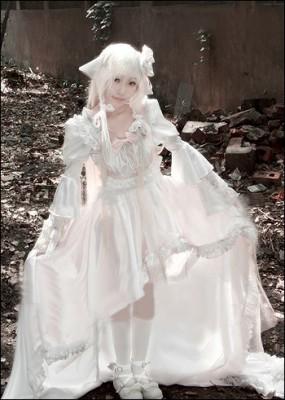 Chobitsちょびっツ ちぃ 華やかなドレス コスプレ衣装