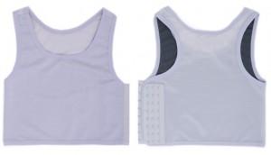 超薄く通気性あるナベシャツ 胸潰し