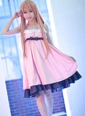 ソードアート・オンライン アスナ ピンク可愛い寝巻き パジャマ コスプレ衣装
