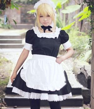『Fate/Zero』(フェイト/ゼロ) セイバー(Saber)メイド服 コスプレ
