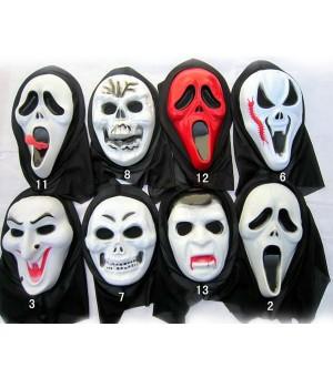 スクリーム マスク 大人気 12種類 鬼の仮面 ハロウィーンマスク いたずらマスク ヴァンパイアマスク コスプレ道具小物
