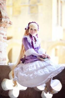 GOSICK -ゴシック- ヴィクトリカ ド ブロワ 紫ドレス コスプレ衣装