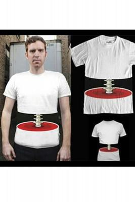 脊椎イタズラデザインTシャツ