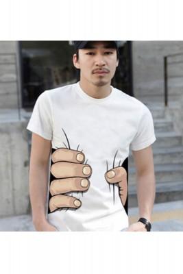イタズラされちゃったメンズTシャツ ペアルックTシャツ
