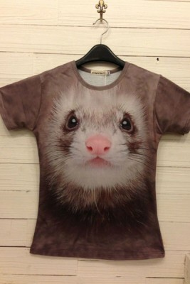 3DTシャツ おもしろい動物イタズラTシャツ 半袖Tシャツ