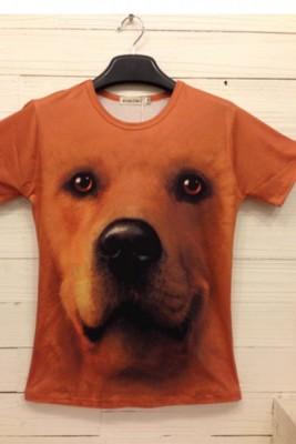 動物イタズラTシャツ 3DTシャツ おもしろいTシャツ 半袖Tシャツ
