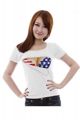 胸露出デザインのTシャツ セクシーイタズラTシャツ
