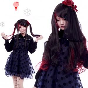 メイド服用Lolita/ロリータウィッグ 原宿風 耐熱コスプレウイッグ