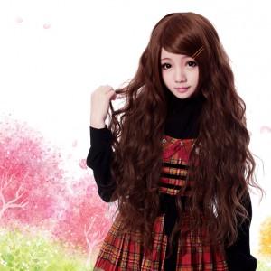 ロング卷き毛 耐熱ウイッグ 原宿風 Lolita/ロリータウィッグ