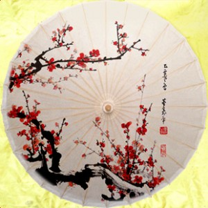 ウメ花柄の傘 和傘 番傘 紙傘 コスプレ道具