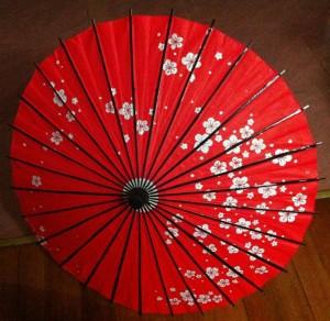 人気赤の和傘 番傘 紙傘 コスプレ道具
