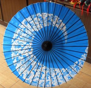 藍の傘 和傘 番傘 紙傘 コスプレ道具