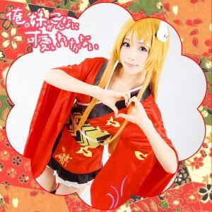 俺の妹がこんなに可愛いわけがない 俺の妹 高坂 桐乃 プリント和服 コスプレ衣装
