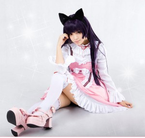 俺の妹がこんなに可愛いわけがない 俺の妹 黒猫(くろねこ)lolitaワンピース コスプレ衣装