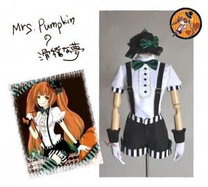 V家/VOCALOID  初音ミク ハロウィーン Mrs.Pumpkinの滑稽な夢 コスプレ衣装 Mrs.パンプキン
