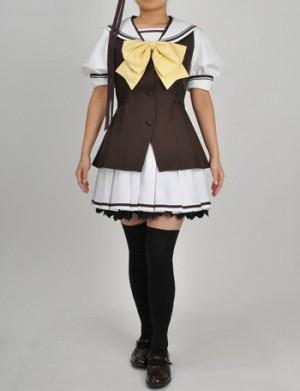 SHUFFLE リシアンサス 国立バーベナ学園 女性制服 夏 コスプレ衣装 シャッフル