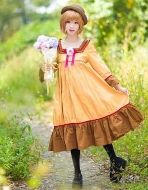 ツバサ-RESERVoir CHRoNiCLE 木之本桜 桜 麻 ワン・ピースコスプレ衣装