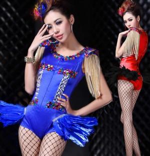 2014演出衣装 バー女性歌手 セクシージャズダンス衣装 dsリードダンサー