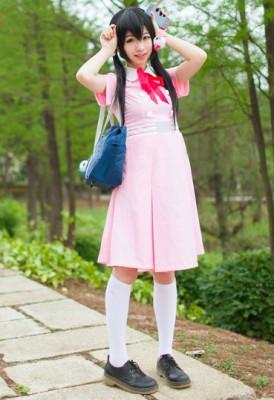 たまこまーけっと 北白川たまこ ピンク夏季学校制服 コスプレ